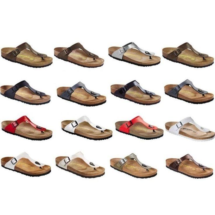 Birkenstock Gizeh Sandals regular and narrow width different colors - Birko-Flor
