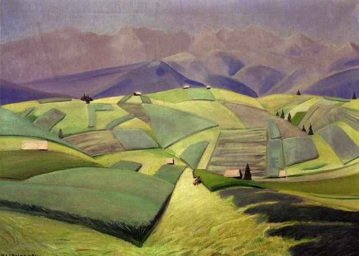 "Rafal Malczewski ""Landscape. Midday"", c. 1926, oil on canvas, 65 x 92 cm, National Museum, Warsaw"