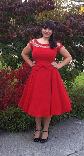 Tatyana/Bettie Page With Only a Wink Dress in Ruby | Mod Retro Vintage Dresses | ModCloth.com