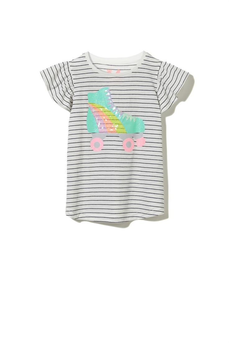 Ruby s rainbow room inspiration for kids bedroom decor at huggies - The Anna Short Sleeve Appliqu Tee Is A Favourite In Every Girls Wardrobe Featuring A