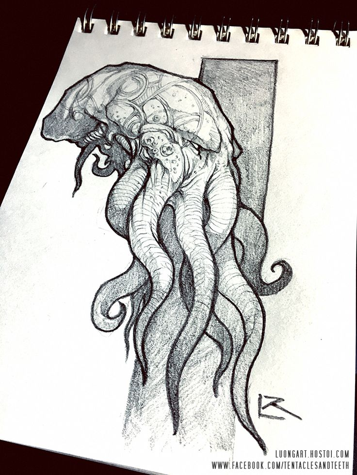 Cthulhu Sketches by Richard Luong (Halloween would... | Creatures from Dreams