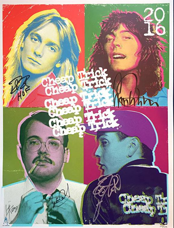 Kii Arens Cheap Trick Rock n Roll Hall of Fame Poster