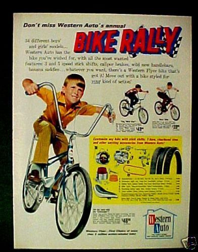 1970 Western Auto Eliminator,Wild One,BUZZ Bike~ Bicycles Tires T-Bars Trade AD   eBay
