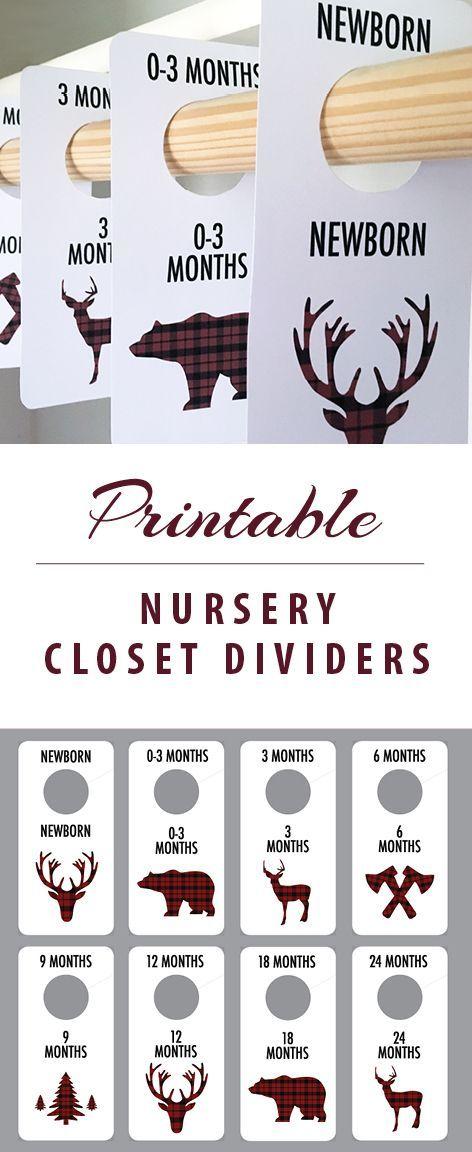 Lumberjack Theme Nursery - closet dividers - baby boy nursery - lumberjack nursery gift