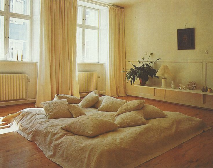 These curtains.  THE BED AND BATH BOOK by Terence Conran ©1977
