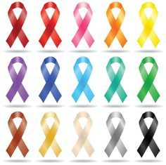 Here's the Meaning of Every Color of Cancer Ribbon: Cancer ribbon colors