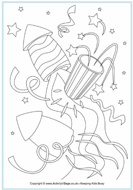 Rockets colouring page