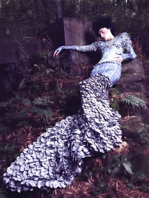 Fairytale fashion fantasy / karen cox.  ♔ fairy tale gown made of flowers