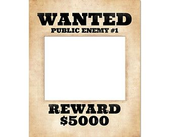 Photo booth prop. Printable wanted poster. Wanted sign. Prohibition party supplies. Party decoration. Great Gatsby party decor.