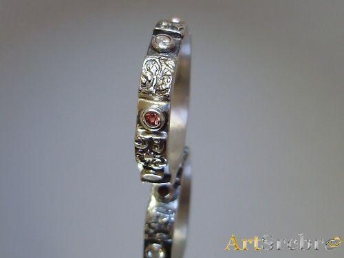 Biżuteria srebro, szafiry - obrączka PROMOCJA cena 49 zł