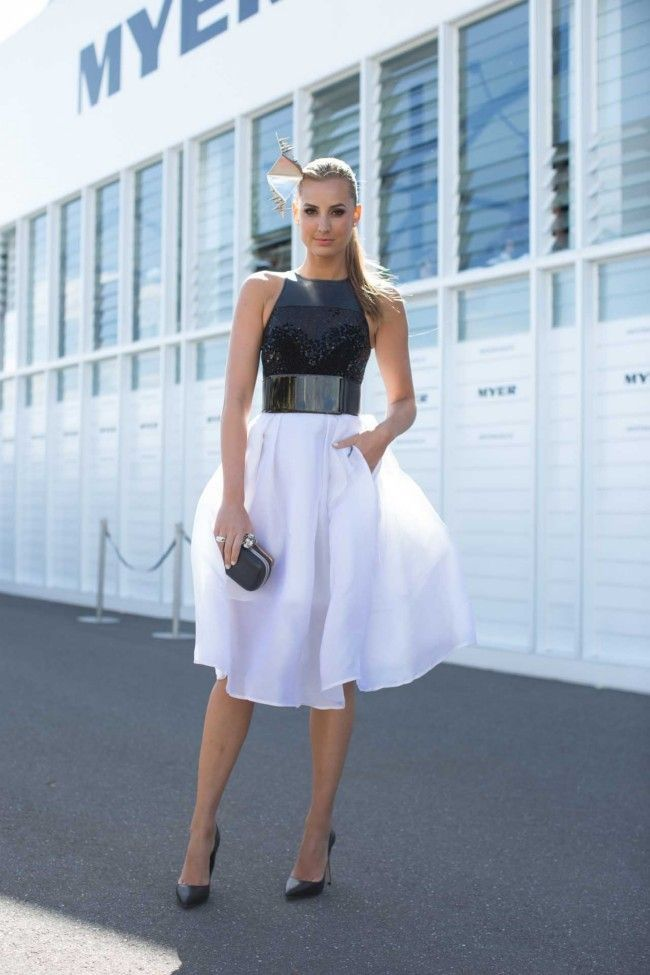 Street style at The Melbourne Cup                              …