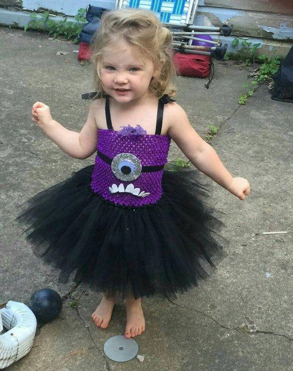 Evil Purple Minion Inspired Tutu Dress Costume for by ChachaTutu