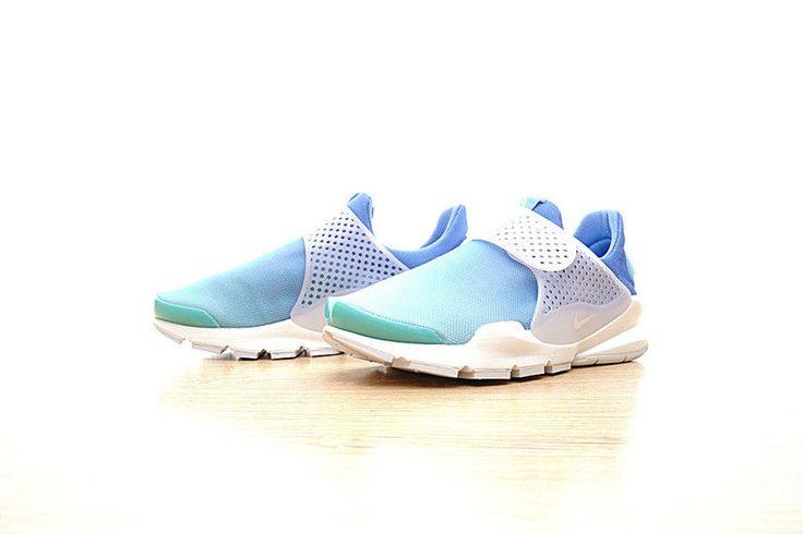 Chaussures pas cher course Nike Sock Dart Womens Shoe Still Blue Polarized Blue Glacier Blue White 896446-400