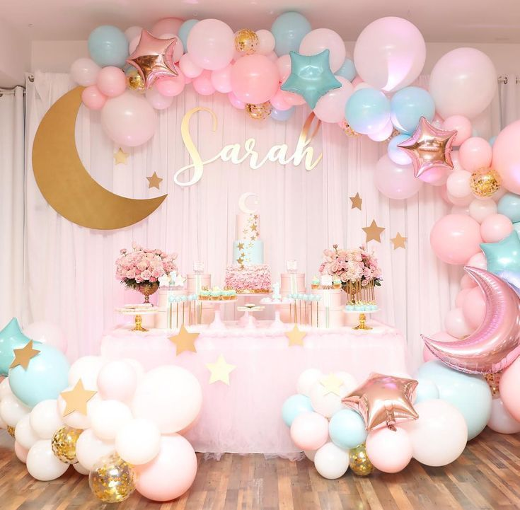 Best Party Ideas Featured On Girl Baby Shower Decorations Baby Girl Birthday Theme Girl Shower Themes