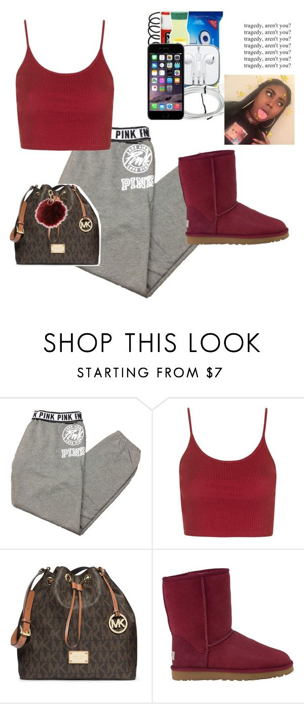 """Rq"" by yungjazzyhoe ❤ liked on Polyvore featuring Victoria's Secret, Topshop, MICHAEL Michael Kors, UGG Australia and Charlotte Russe"