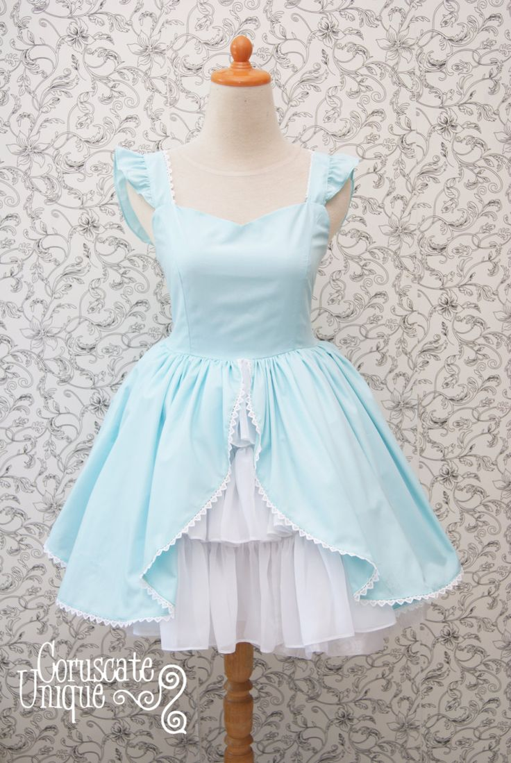 Alice in Wonderland Dress Baby Blue Sweetheart by CoruscateUnique, $135.20
