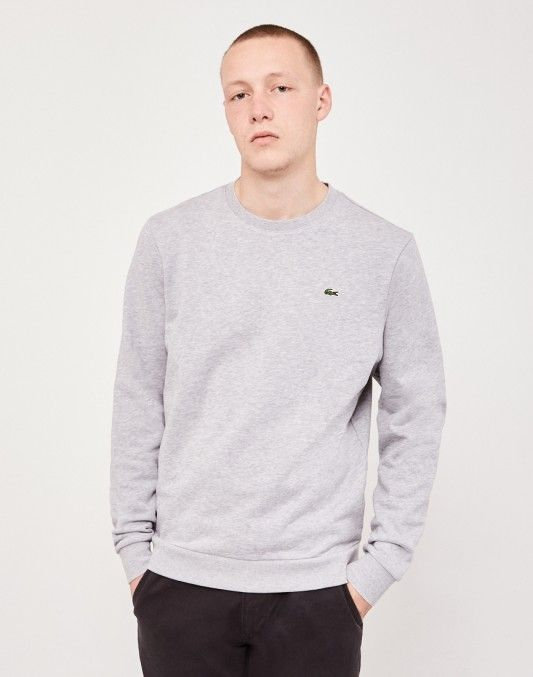 Lacoste Sweatshirt Grey   Shop now at The Idle Man   #StyleMadeEasy