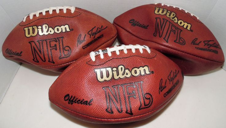 NFL Football Official Wilson AFC/NFC Game Used Ball Lot of 3 Paul Tagliabue #Wilson