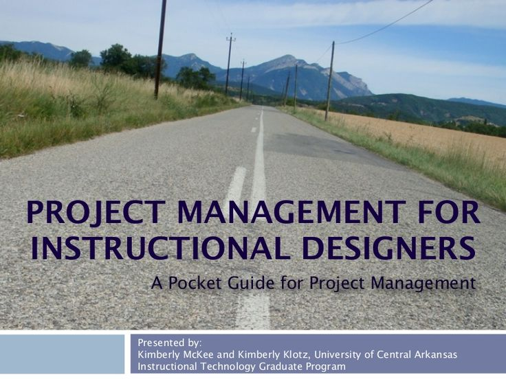 The way this is presented could be good as we move forward and start working on teams/projects with librarians - A presentation on project management principles and use in instructional design and how the project management phases and activities sync with the ADDIE Model.…