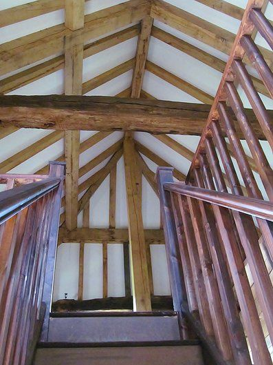 Barn conversion interior with new oak structural frame -  CGGW - Engineering Consultants, Surveyors & Architectural Design | Restoration of Kentish Barn
