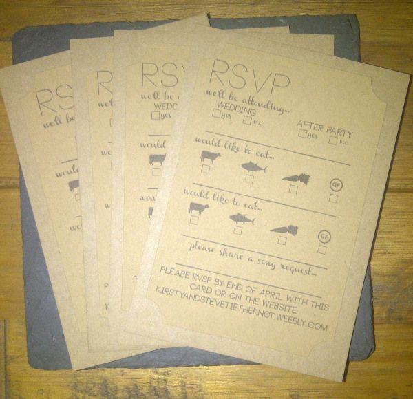 DIY RVSP cards.