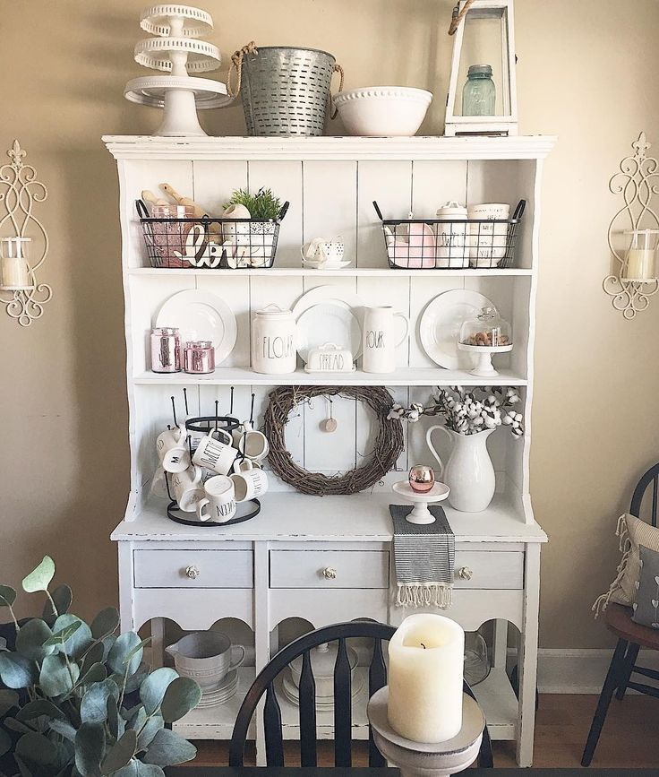 Farmhouse Hutch Decorating Ideas Pictures