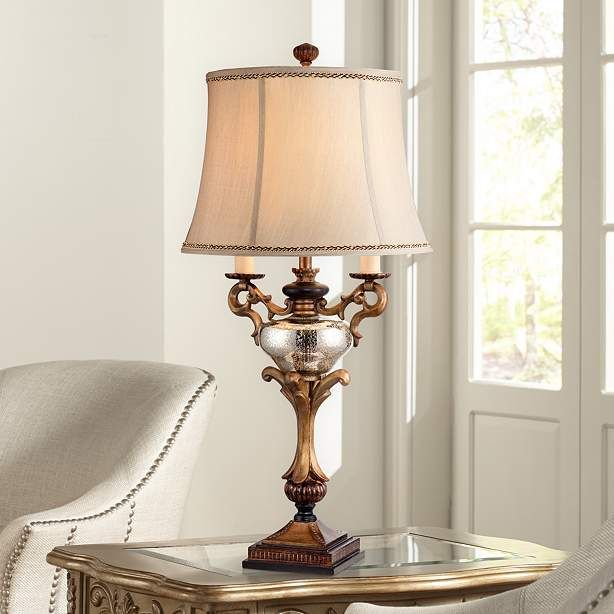 Winifred Faux Twin Candelabra Table Lamp - #1F449 | Lamps Plus