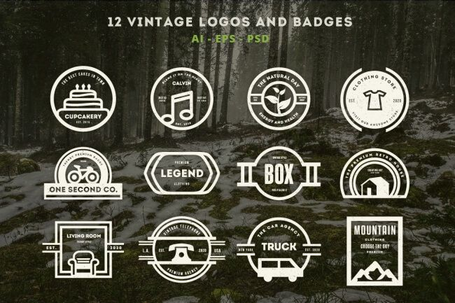 LAST DAY: 250 Awesome Vintage Logos, Labels and Badges (Extended license) - only $10! - MightyDeals