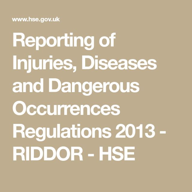 75 best health safety in engineering images on pinterest office reporting of injuries diseases and dangerous occurrences regulations 2013 riddor hse fandeluxe Choice Image