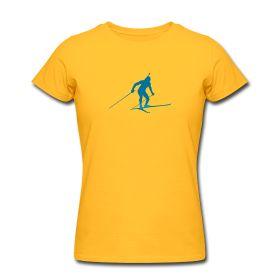 Biathlon Frauen T-Shirt von American Apparel Figurbetontes T-Shirt für Frauen, 100% Baumwolle, Marke: American Apparel