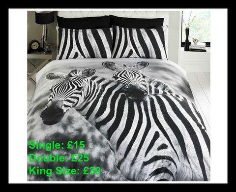 Zebra Duvet Sets - Single/Double/King Size