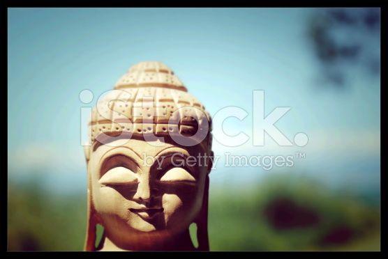 Statue of Indian Deity Buddha Instagram royalty-free stock photo