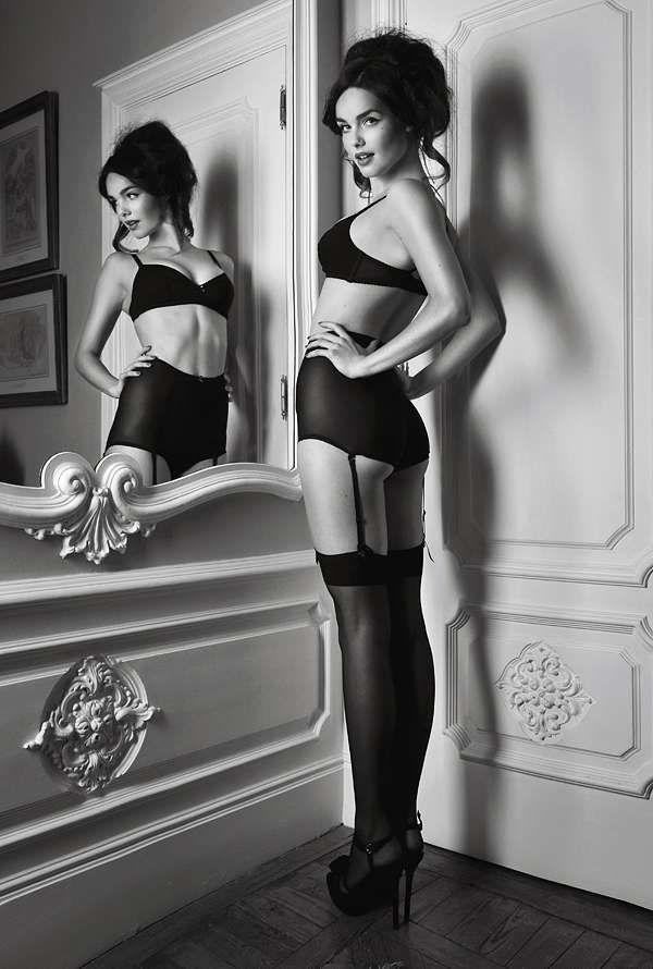 Noir Boudoir Photography : Noemie Lenoir by Sergi Pons