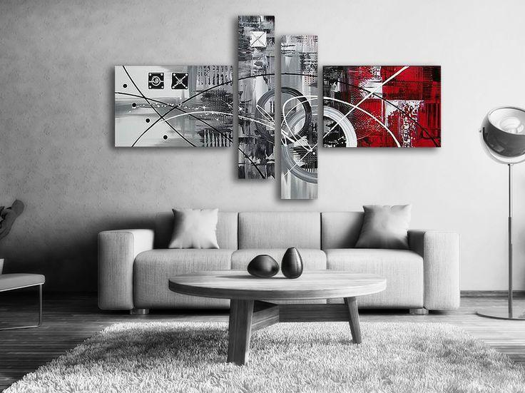 Abstrakt Oljemålning La Red #Handmålad modern #abstrakt #oljemålning i #svart och #röd färg, tavlan passar till varje modernt hem och #bostad. En handmålad tavla ger alltid ett mer uttrycksfull intryck.