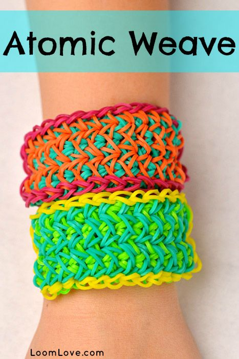 How To Make The Basket Weave Rainbow Loom : How to make a rainbow loom atomic weave rainbowloom