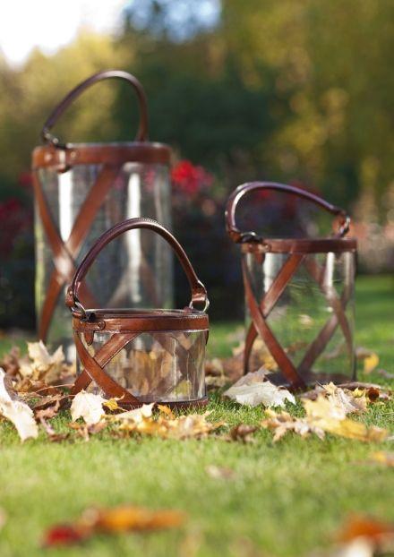 BALMUIR Kensington Glass Lanterns, Cognac - Balmuir - Exclusive Collection