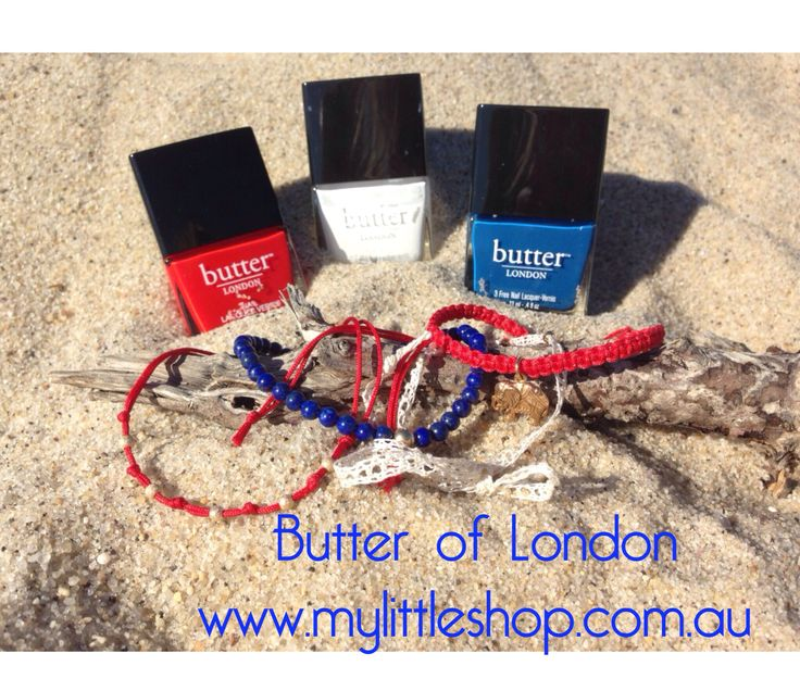 Australia Day colours from Butter of London now in store.