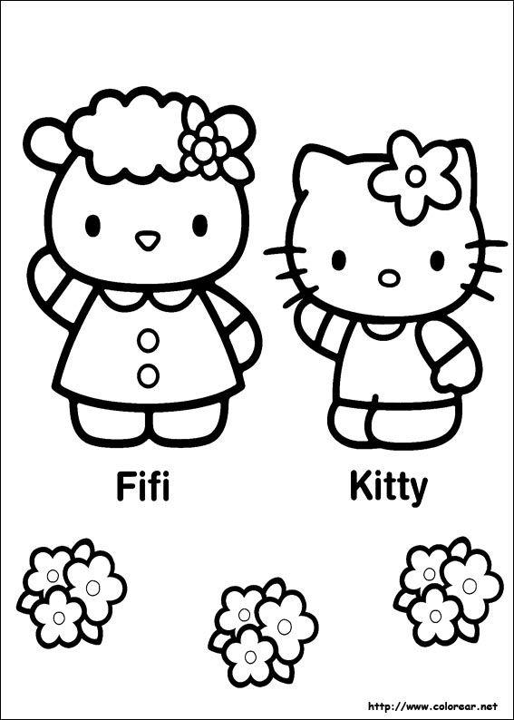 18 best Hello Kitty Ausmalbilder images on Pinterest | Free coloring ...