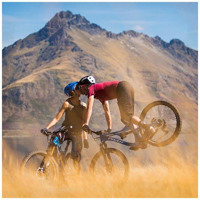 Mountain biking love! Cute couple
