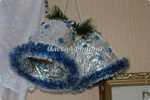 Мастер-класс Новый год Рождество Моделирование конструирование Колокольчики на городскую ёлку Клей Фольга фото 11