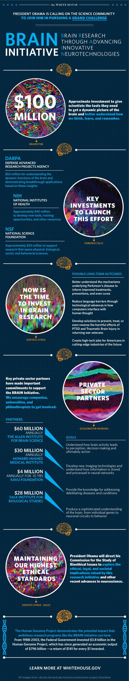 The BRAIN Initiative will help researchers better understand the human brain and find new ways to treat, cure, and even prevent brain disorders, such as Alzheimer's disease, epilepsy, and traumatic brain injury. Learn more: http://wh.gov/Lshr
