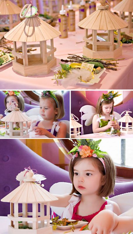 Some ideas that Princess Sharon gave us for decorating include :tiny polymer mushrooms, feathers, buttons, sequins, 'fairy books' (printed tiny pages with writing on them), leaves, acorns, small pinecones, shells, moss…