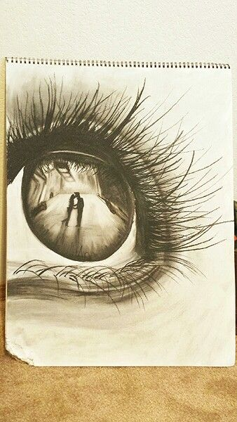 Charcoal art by Melissa. Inspired by an original charcoal piece. Charcoal drawing