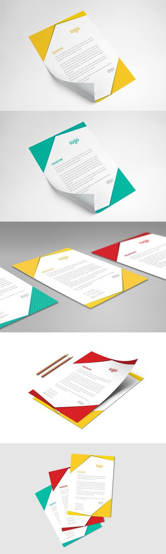 Letter Head. Stationery Templates