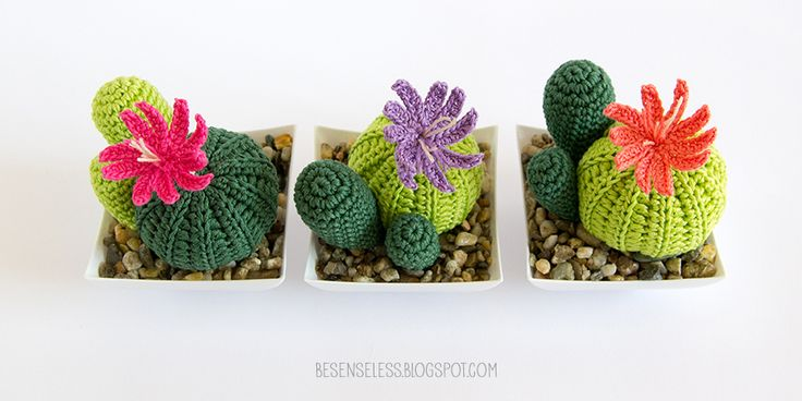 crochet amigurumi кактусы - суккуленты в вязание крючком - airali