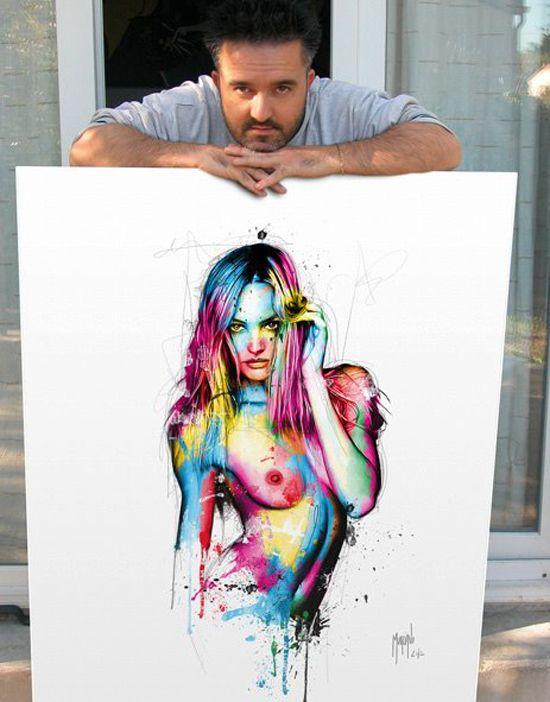 Les peintures colorées de l'artiste Patrice Murciano