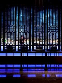 Wooden Chinese Screens at Hakkasan
