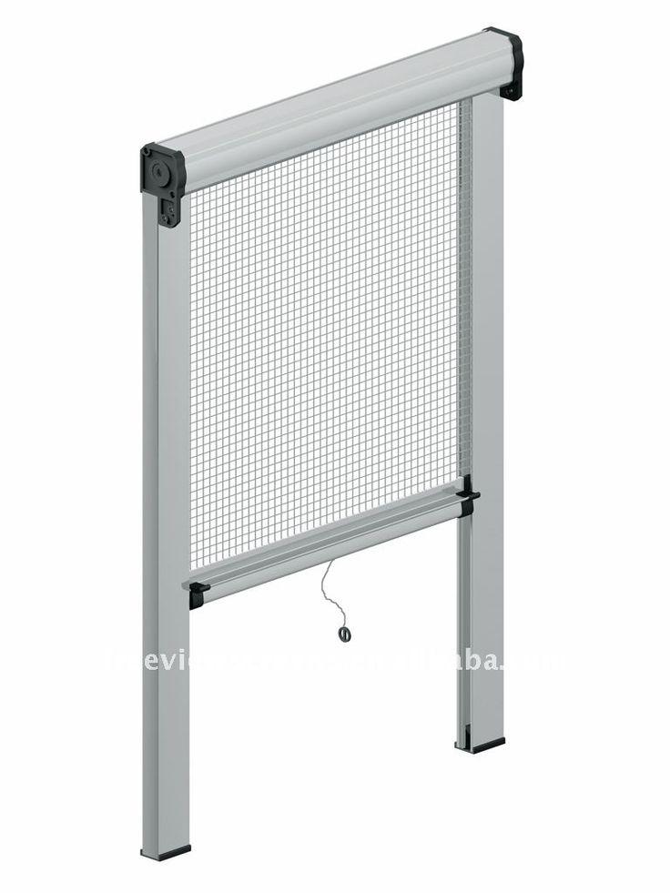 Retractable Insect Screen Window 1020 In 2019 Mosquito Window Screen Grill Door Design
