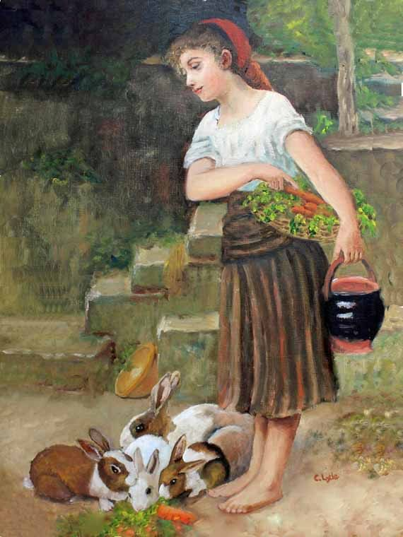 Wants artist young girl feeding rabbits nude