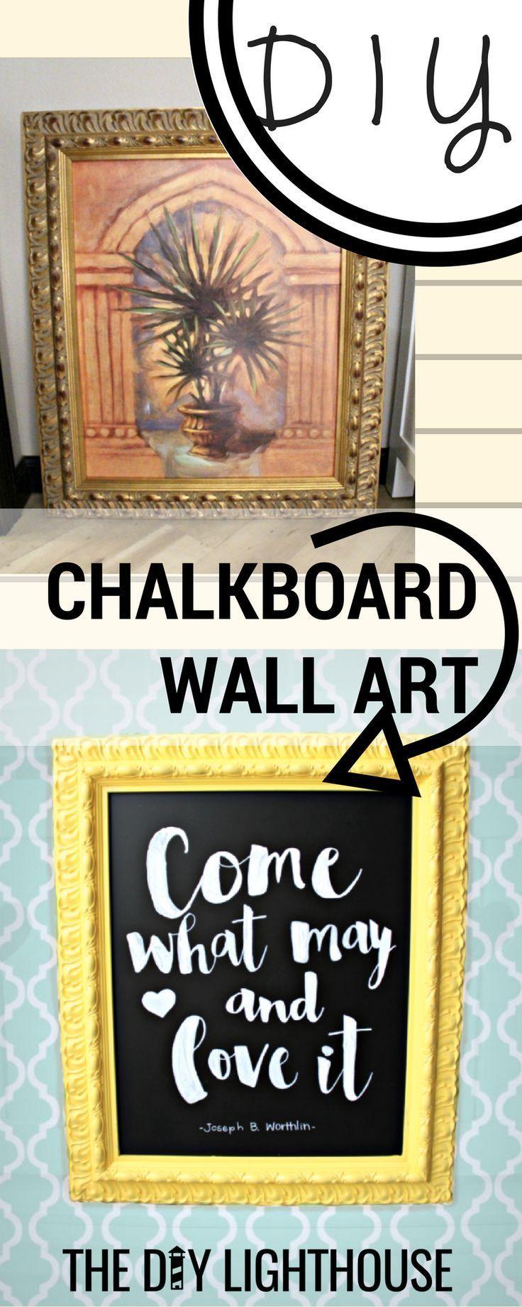 How To DIY Framed Chalkboard Wall Art. Gerahmte Tafel WändeTafel  IdeenErwachsenen BasteleiDiy Craft ...